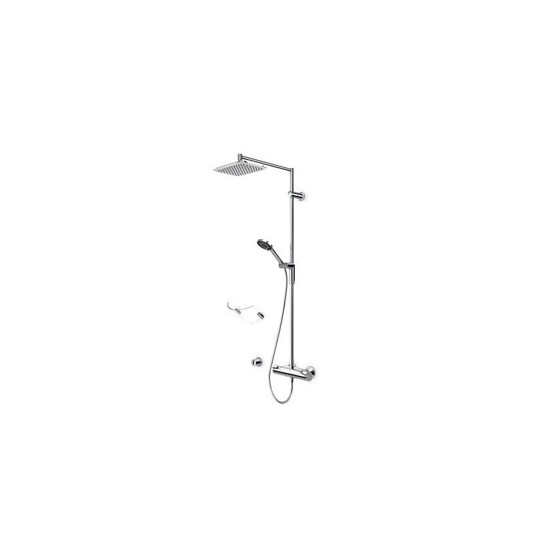 Termostatinė lietaus dušo sistema Oras Optima su rankiniu dušu ir aksesuarais