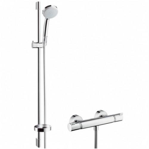 Hansgrohe dušo komplektas su termostatiniu maišytuvu Ecostat Comfort Combi 90 cm & Croma 100 Vario, 27035000