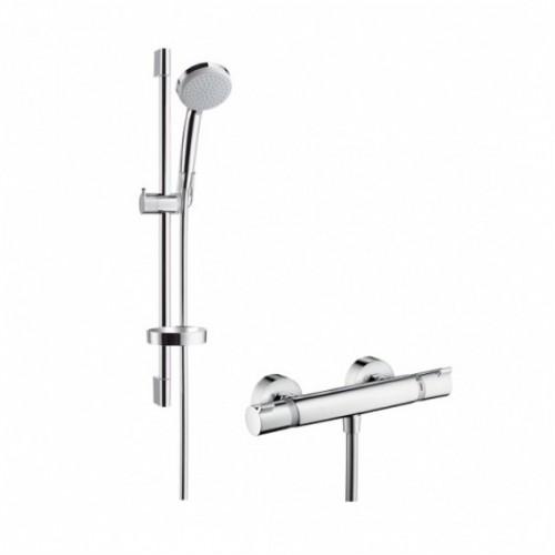 Hansgrohe dušo komplektas su termostatiniu maišytuvu Ecostat Comfort Combi 65 cm & Croma 100 Vario, 27034000