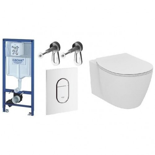 WC rėmo komplektas GROHE Rapid SL ir IDEAL STANDARD Connect su soft-close dangčiu