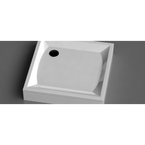 Vispool K-90 kvadratinis akmens masės dušo padėklas 900*900 mm