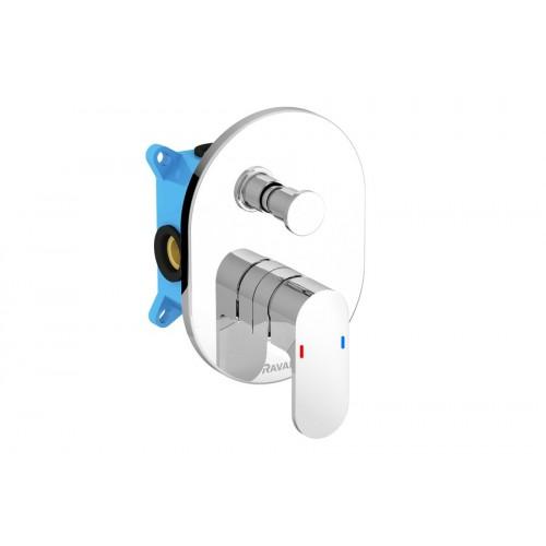 Potinkinis 2 taškų maišytuvas dušui/voniai Ravak Chrome su jungikliu