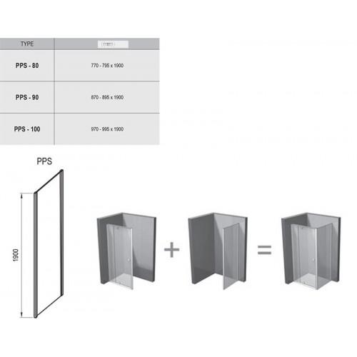 Stacionari sienelė Ravak Pivot PPS, 800*1900 mm