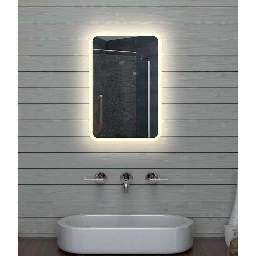 Vonios kambario veidrodis Lux-Aqua LAM1546, su LED apšvietimu, 400*600 mm