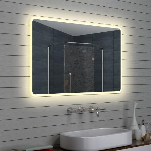 Vonios kambario veidrodis Lux-Aqua LAM15712, su LED apšvietimu, 1200*700 mm
