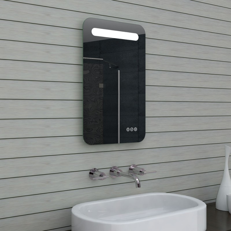 Vonios kambario veidrodis Lux-Aqua MLF40X65, su LED apšvietimu, 400*650 mm