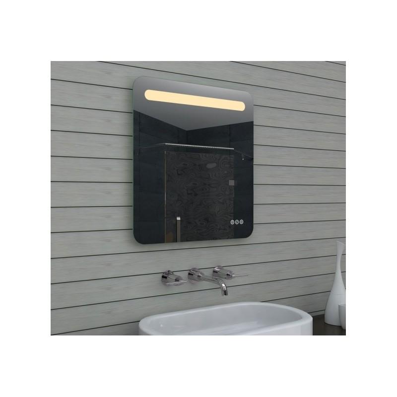 Vonios kambario veidrodis Lux-Aqua MLF60X65, su LED apšvietimu, 600*650 mm