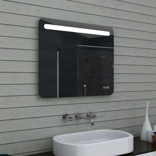 Vonios kambario veidrodis Lux-Aqua MLF80X65, su LED apšvietimu, 800*650 mm