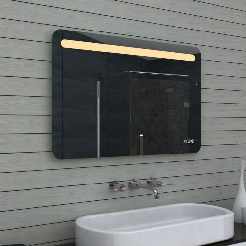 Vonios kambario veidrodis Lux-Aqua MLF100X65, su LED apšvietimu, 1000*650 mm