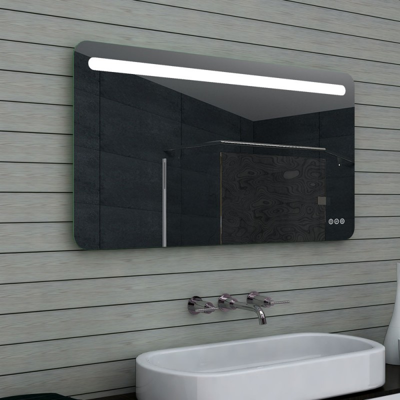 Vonios kambario veidrodis Lux-Aqua MLF120X65, su LED apšvietimu, 1200*650 mm