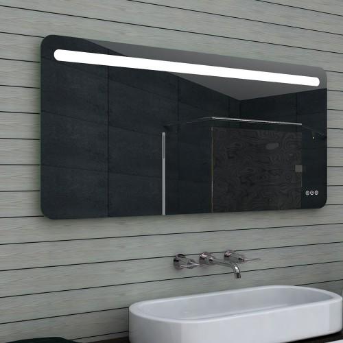 Vonios kambario veidrodis Lux-Aqua MLF140X65, su LED apšvietimu, 1400*650