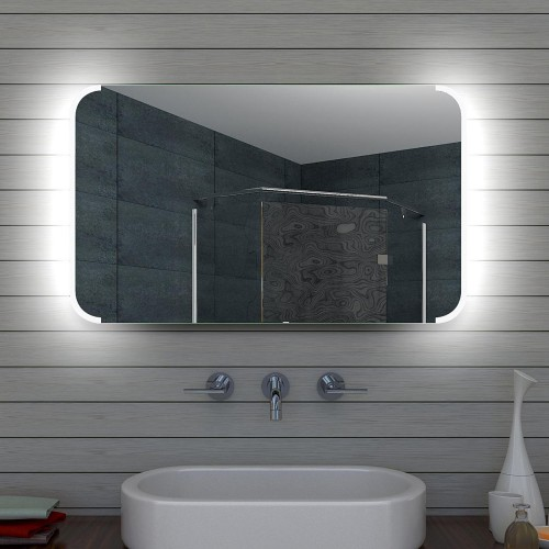 Vonios kambario veidrodis Lux-Aqua ML100, su LED apšvietimu, 1000*600