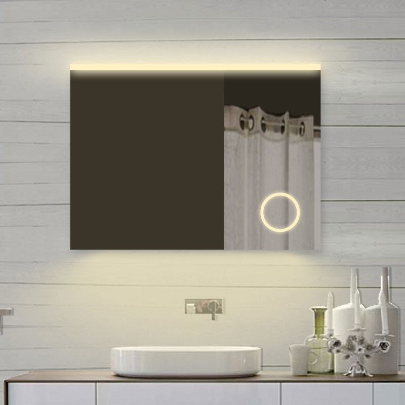 Vonios kambario veidrodis Lux-Aqua SPM82X70DP, su LED apšvietimu, 820*700