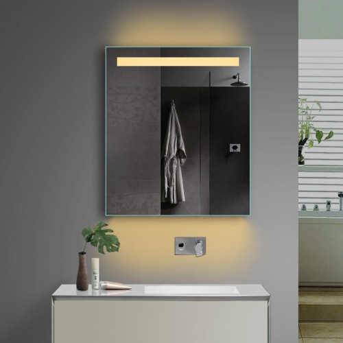 Vonios kambario veidrodis Lux-Aqua TSL60-70, su LED apšvietimu, 600*700 mm