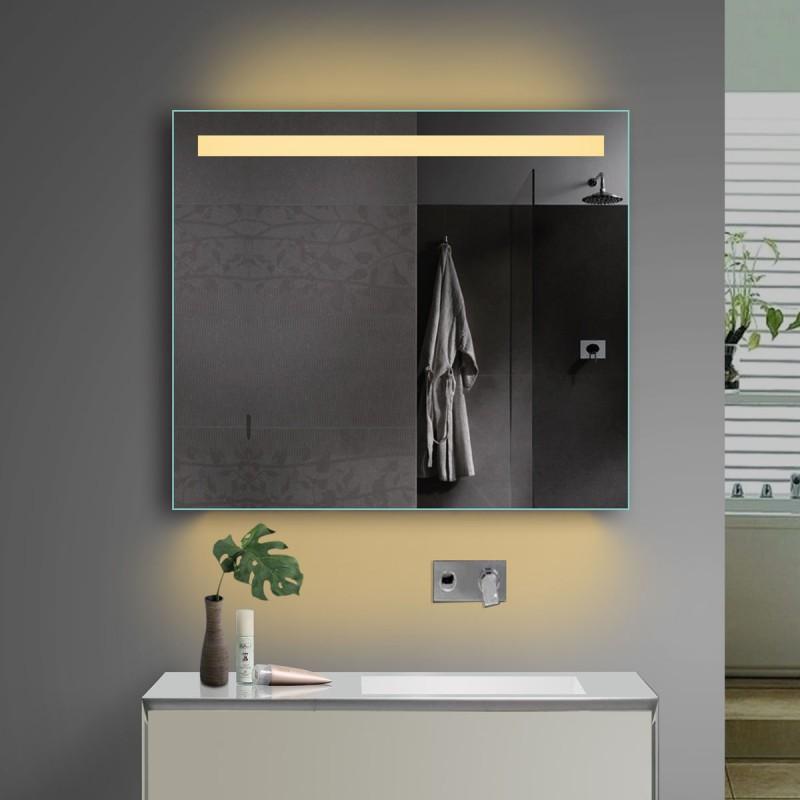 Vonios kambario veidrodis Lux-Aqua TSL80-70, su LED apšvietimu, 800*700 mm
