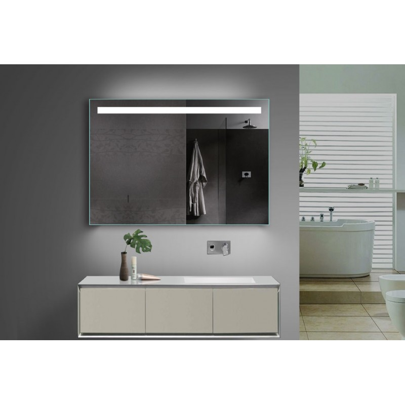 Vonios kambario veidrodis Lux-Aqua TSL100-70, su LED apšvietimu, 1000*700 mm