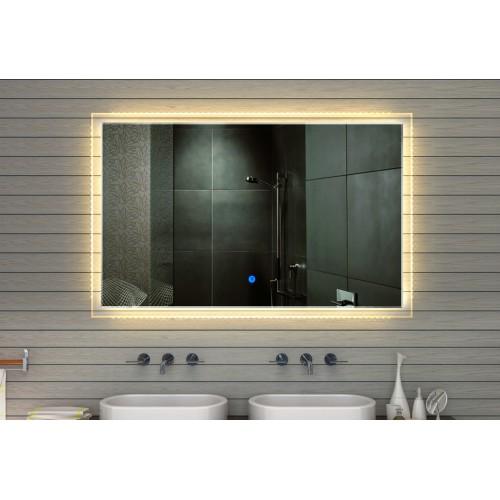Vonios kambario veidrodis Lux-Aqua MF91165, su LED apšvietimu, 1650*1050 mm
