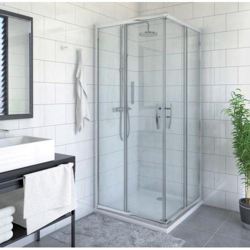 Roltechnik PXS2L + PXS2P kvadratinė dušo kabina su slankiojančiomis durimis