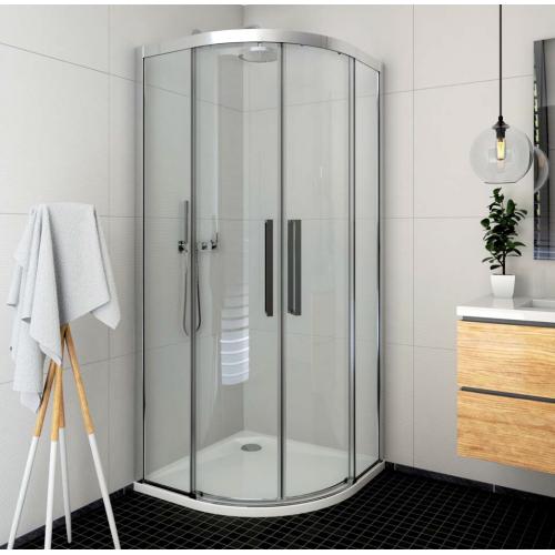 Roltechnik ECR2N pusapvalė dušo kabina su slankiojančiomis durimis