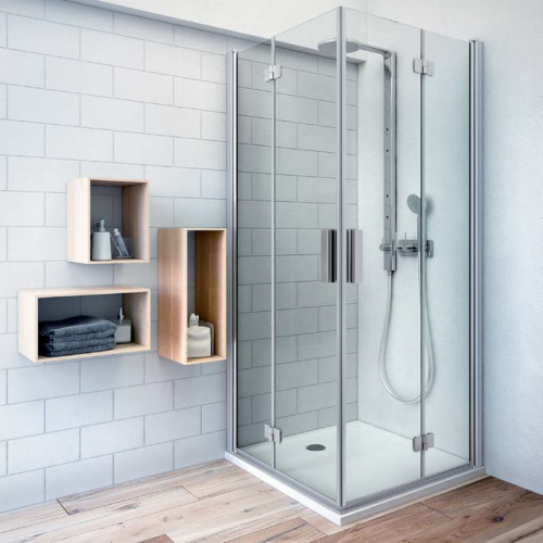 Roltechnik TZOL1+TZOP1 kvadratinė dušo kabina sulankstomomis durimis