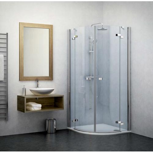 Roltechnik GR2 pusapvalė dušo kabina su dviejų elementų atveriamomis durimis