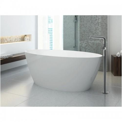 Omnires Marble+ vonia iš lieto marmuro Siena blizgi balta, 160*80 cm