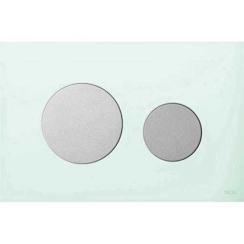 TECEloop vandens nuleidimo plokštelė stikliniu paviršiumi, stiklas žalias, mygtukai matiniai