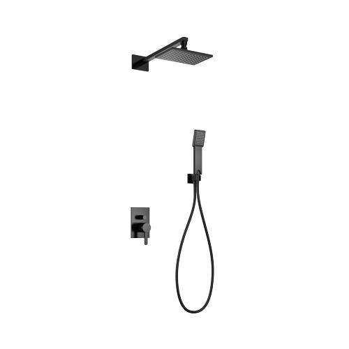 Juodos spalvos potinkinė dušo sistema Omnires Darling SYS DA19 BL