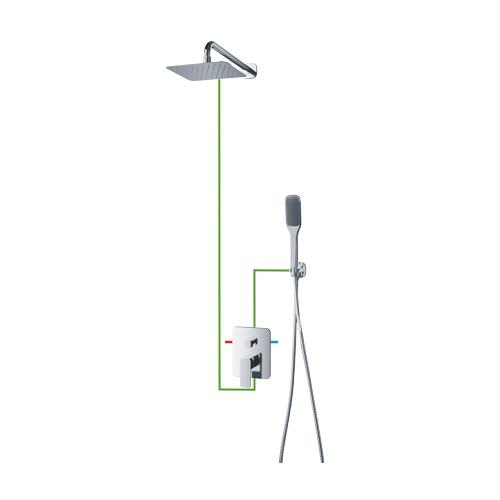 Potinkinė dušo sistema Omnires Apure SYS AP10