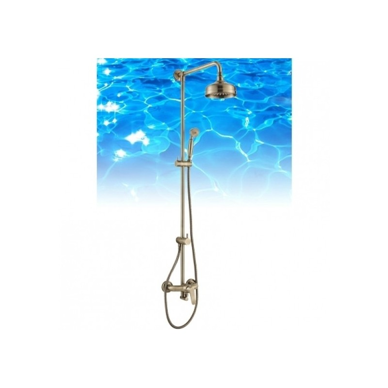 Bronzinė dušo sistema Omnires Art Deco, AD5144BR