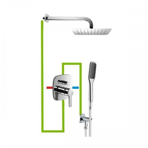 Potinkinė dušo sistema Omnires Hudson SYS24