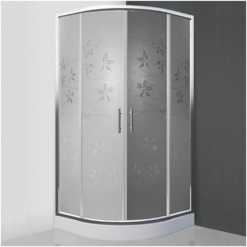 Pusapvalė dušo kabina SaniPro Flower Neo/900