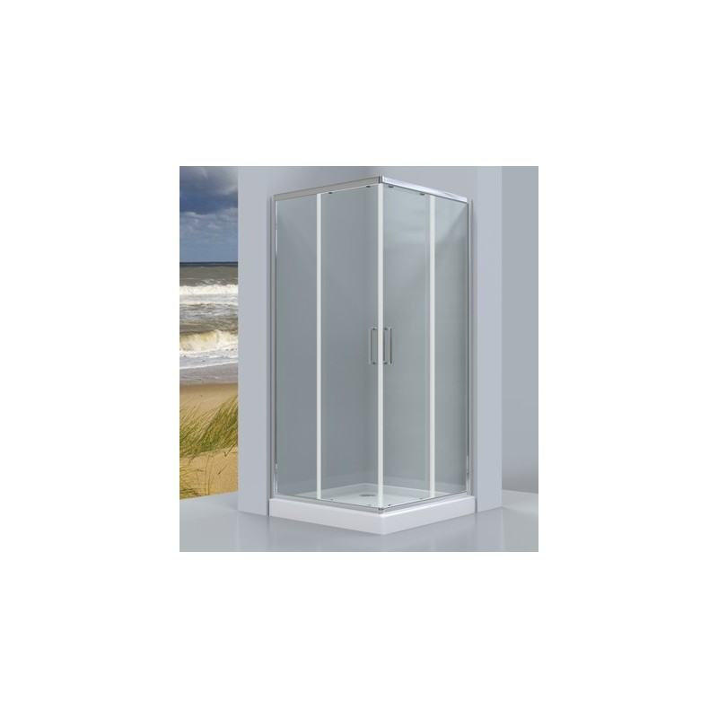 Kvadratinė dušo kabina Omnires Chelsea NDC90X, 900*900 mm