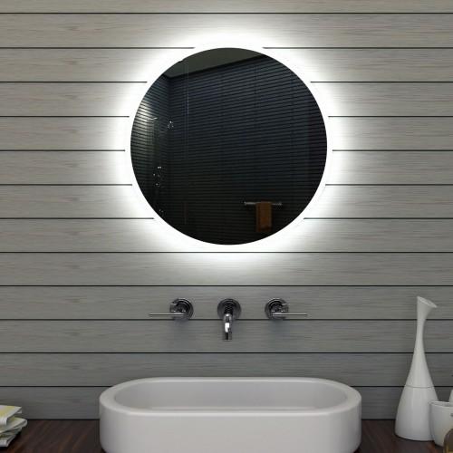 Apvalus veidrodis Lux-Aqua LAMLE6602, su LED apšvietimu, 600 mm