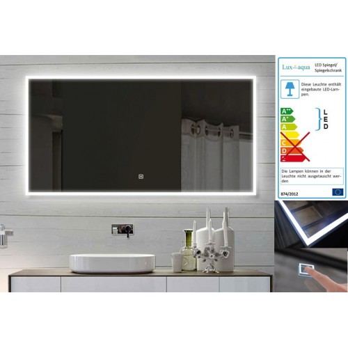 Vonios kambario veidrodis su LED apšvietimu Lux-Aqua LASAM140X60, 1400*600 mm
