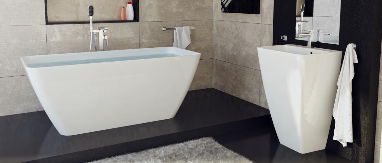 Omnires Marble+ lieto marmuro vonios