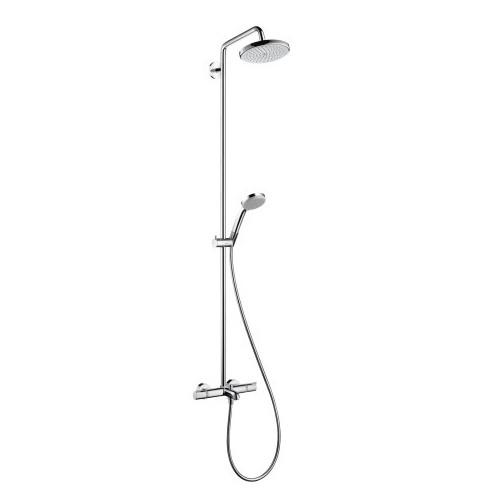 Virštinkinė dušo sistema su termostatu voniai Hansgrohe Croma 220, 27223000