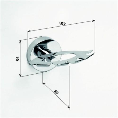 Bemeta Omega dantų šepetėlių laikiklis su 2 stiklinėmis pakabinamas