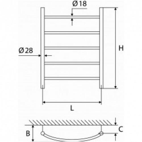 Elonika EŽ 547 KL žalvarinis vandeninis gyvatukas, 655*470 mm
