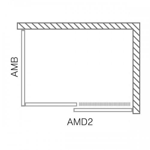 Roltechnik AMD2 dušo durys montavimui į nišą