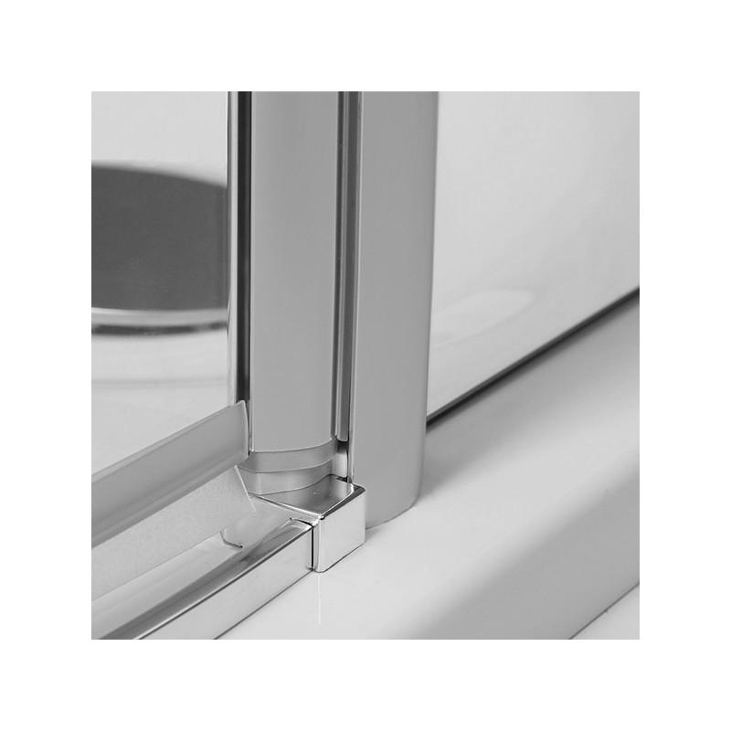 Roltechnik TR1 pusapvalė dušo kabina su dviejų elementų atveriamomis durimis