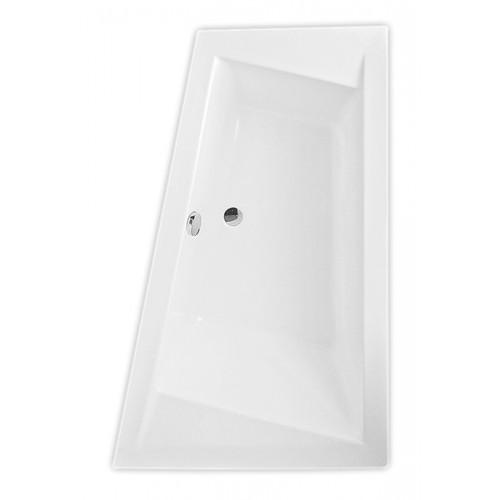 Roth Kubic Asymetric 1600*1030 kampinė asimetrinė akrilinė vonia