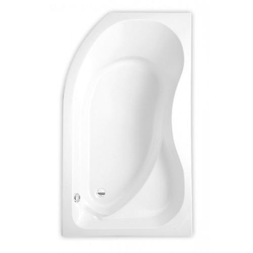 Roltechnik Activa 150*90 cm, kampinė asimetrinė akrilinė vonia