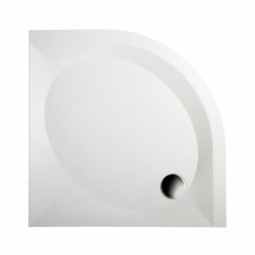 PAA Art RO 1000x1000 pusapvalis akmens masės dušo padėklas
