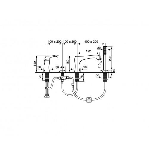 Keturių dalių maišytuvas voniai Emmevi Ares CR76120
