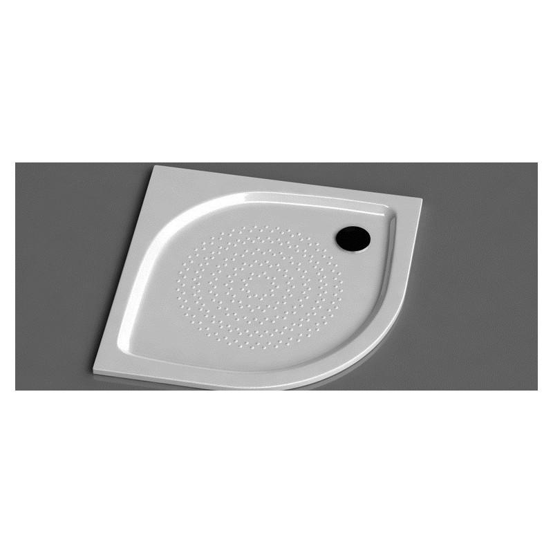 Vispool RZ-90 (R-550) pusapvalis akmens masės dušo padėklas 900*900 mm