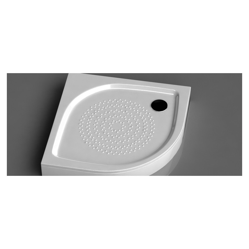 Vispool RR-90 (R-550) pusapvalis akmens masės dušo padėklas 900*900 mm