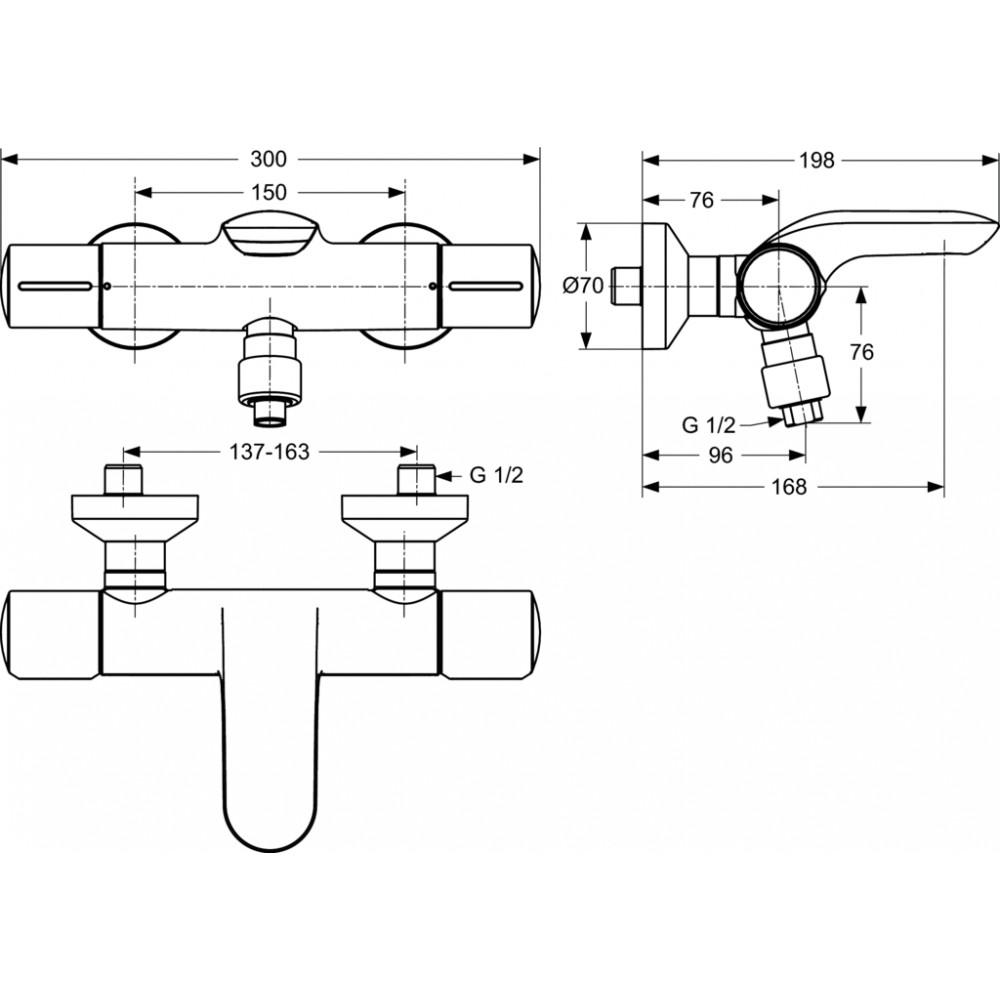 ideal standard melange termostatinis mai ytuvas voniai du ui. Black Bedroom Furniture Sets. Home Design Ideas