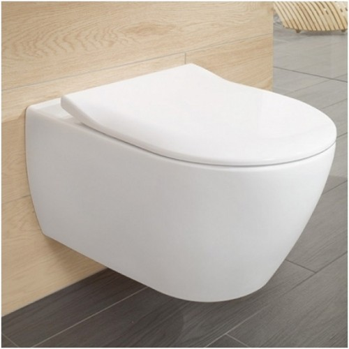 Villeroy&Boch Subway 2.0 pakabinamas WC su SLIM soft close dangčiu