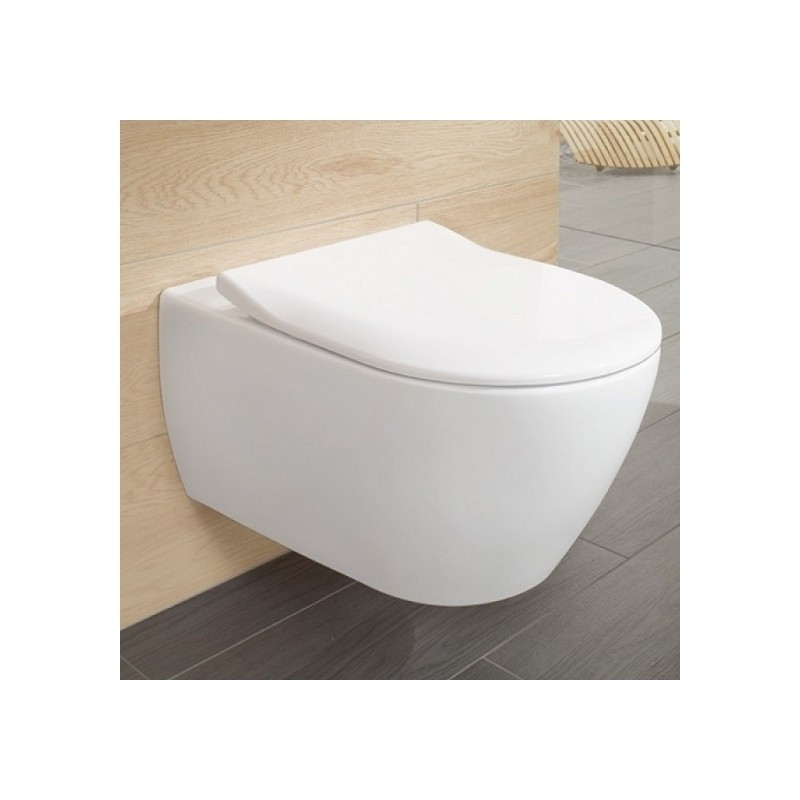 Villeroy&Boch Subway 2.0 pakabinamas WC su SLIM soft close dangčiu